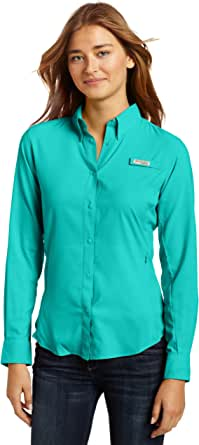 Columbia Women's PFG Tamiami II Long Sleeve Shirt, UV Sun Protection, Moisture Wicking Fabric