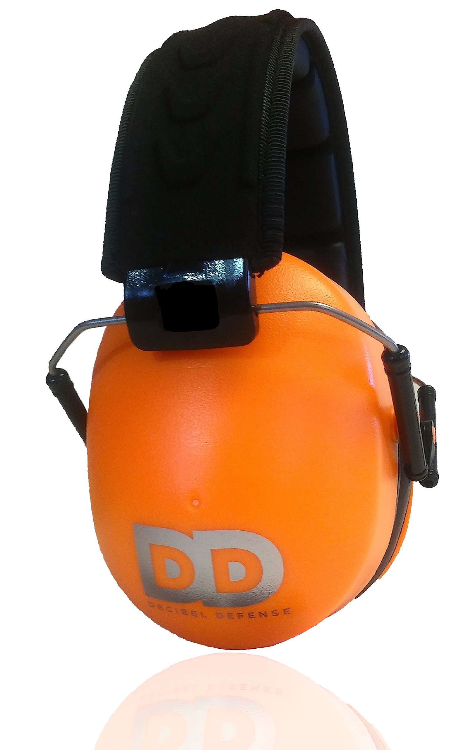 Professional Safety Ear Muffs by Decibel Defense - 37dB NRR - The HIGHEST Rated & MOST COMFORTABLE Ear Protection For Shooting & Industrial Use - THE BEST HEARING PROTECTION.GUARANTEE