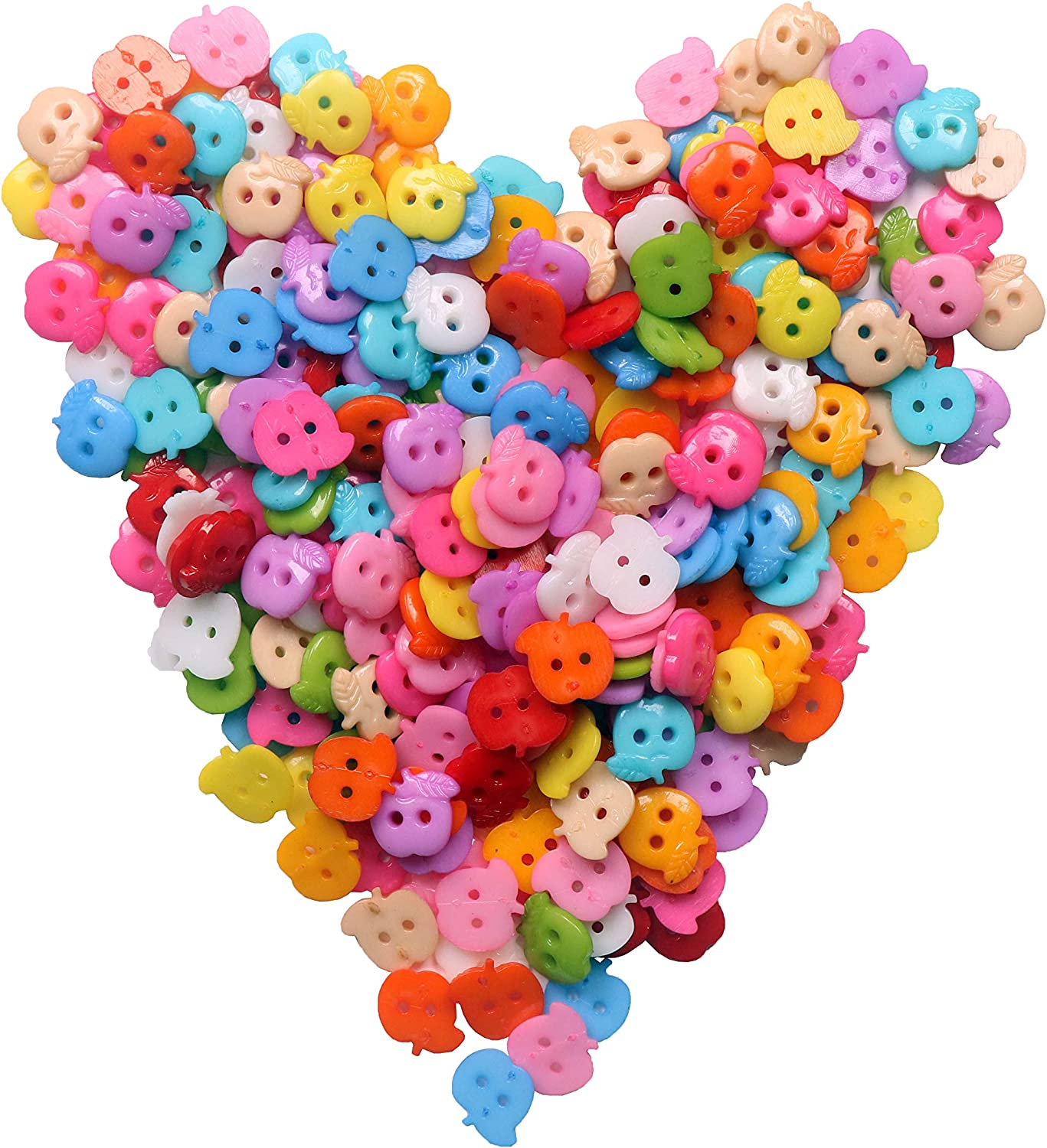 YAKA 50pcs Big Button Mix Fancy Round Plastics Button Overcoat 4 Holes Buttons DIY Craft Sewing Buttons for crafts1.2inch
