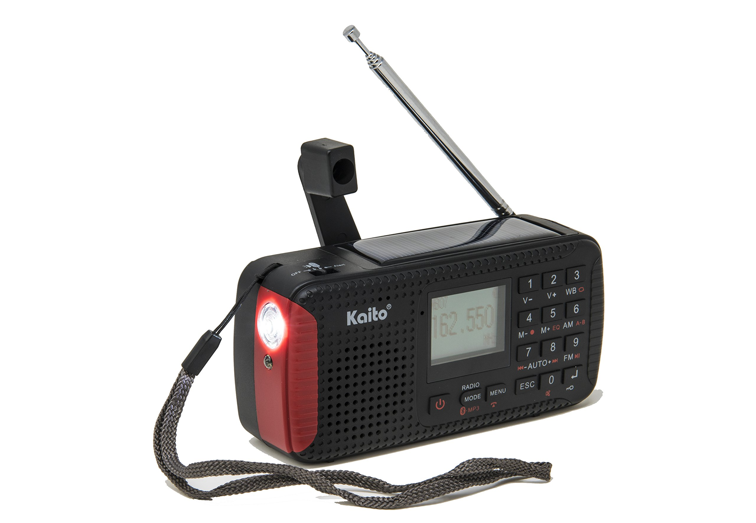 Kaito KA680 Pocket Digital AM/FM NOAA Weather Emergency Radio with Location-Specific Public Emergency Alert, Bluetooth, MP3 Player & Recorder by Kaito