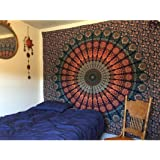 Tapestry Lovers Psychedelic Mandala Tapestry Wall Hanging For Beach Throw Towel, Bedsheet, Table Cover,54 X 84 Cotton