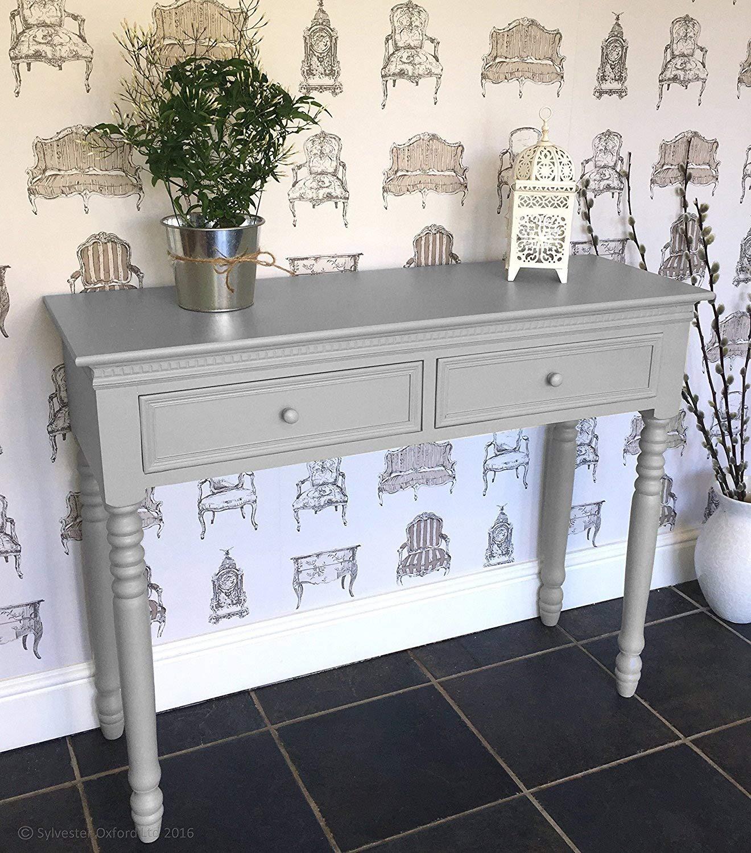 Belgravia Style Console Table in Dove Grey Sylvester Oxford Ltd.