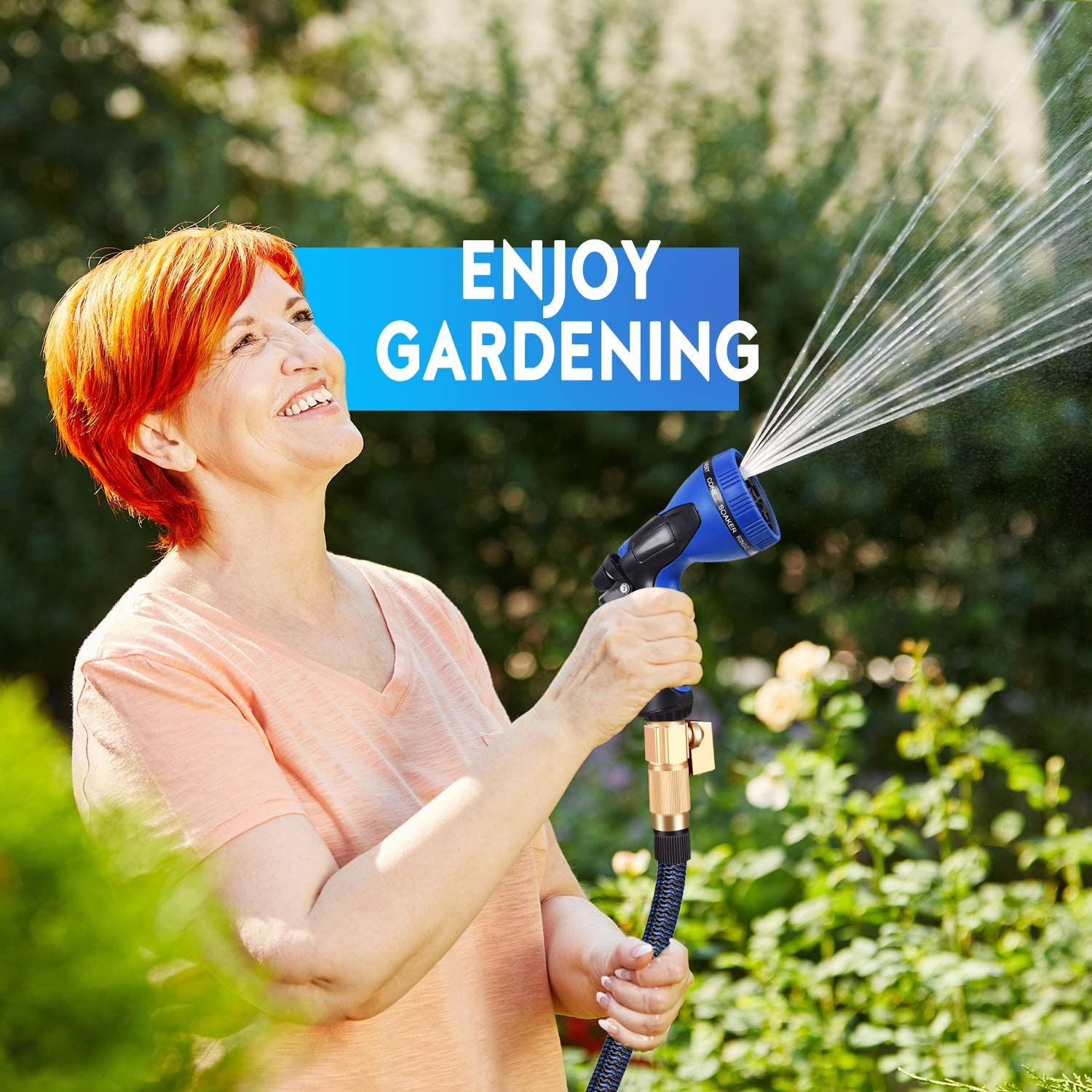 MURLONG Garden Hose 100ft Expandable Water Hose with 10 Function Spray Nozzle,Leakproof Lightweight Flexible Water Hose with Solid Brass Fittings,Extra Strength 3750D Durable Gardening Flexible Hose: Home Improvement