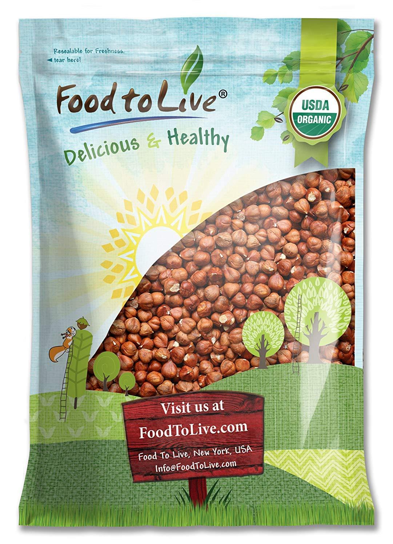 Organic Hazelnuts / Filberts by Food to Live (Raw, No Shell, Kosher, Bulk) — 8 Pounds