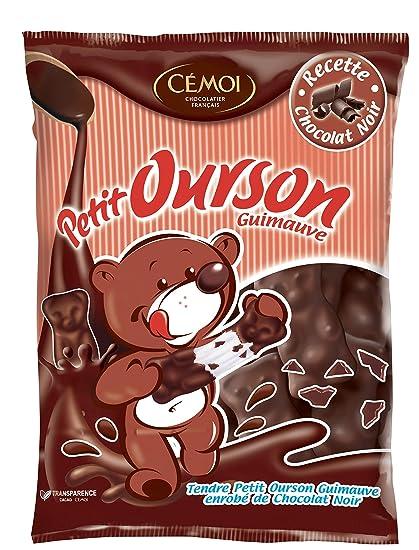 Cémoi Sachet l Authentique Petit Ourson Guimauve au Chocolat Noir 180 g -  Lot de 2a653e0d9fd