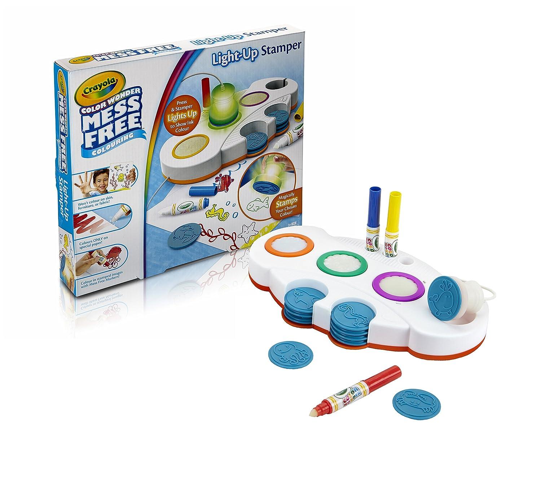 crayola mess free colour wonder light up stamper art and crafts kit