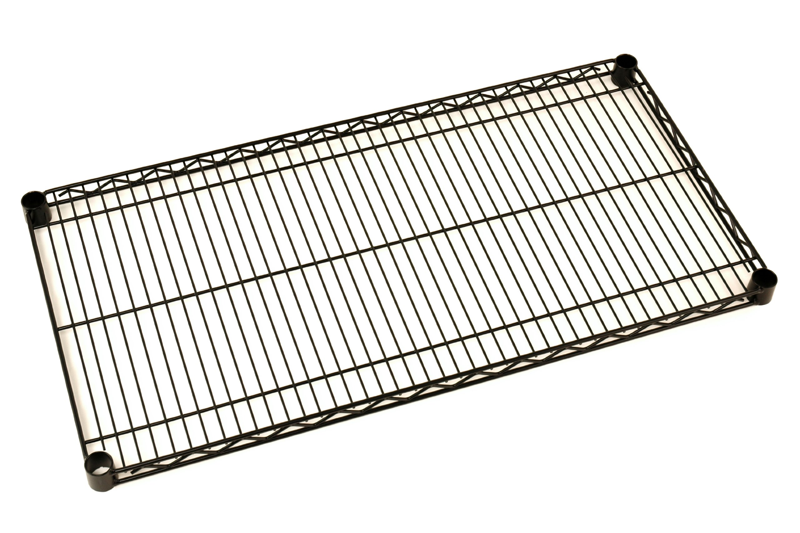 Metro 2436NBL Super Erecta Steel Wire Shelf, 800 lb. Capacity, 1'' Height x 36'' Width x 24'' Depth, Black (Pack of 4)