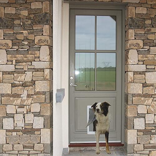 Ideal- Pet- Products- Designer- Series- Plastic- Pet- Door- with- Telescoping- Frame