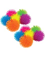 Charmed Soft Squeeze Puffer Balls in Assorted bright Colors, Fun Fidget Sensory Toy, Awesome Party Favor, Gift Bag Filler, Pack of 12