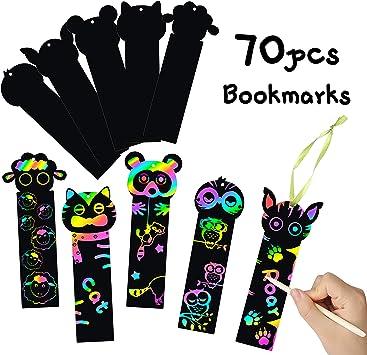 Amazon.com: MALLMALL6 - 70 marcadores de arcoíris para ...