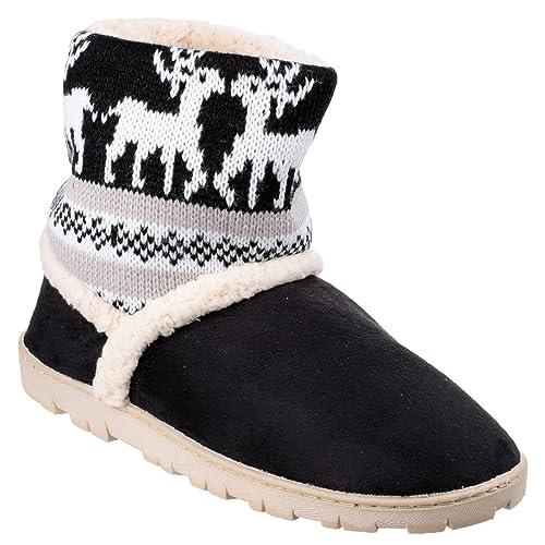 Divas - Zapatillas/Botines de Estar por casa Modelo Denmark para Mujer: Amazon.es: Zapatos y complementos