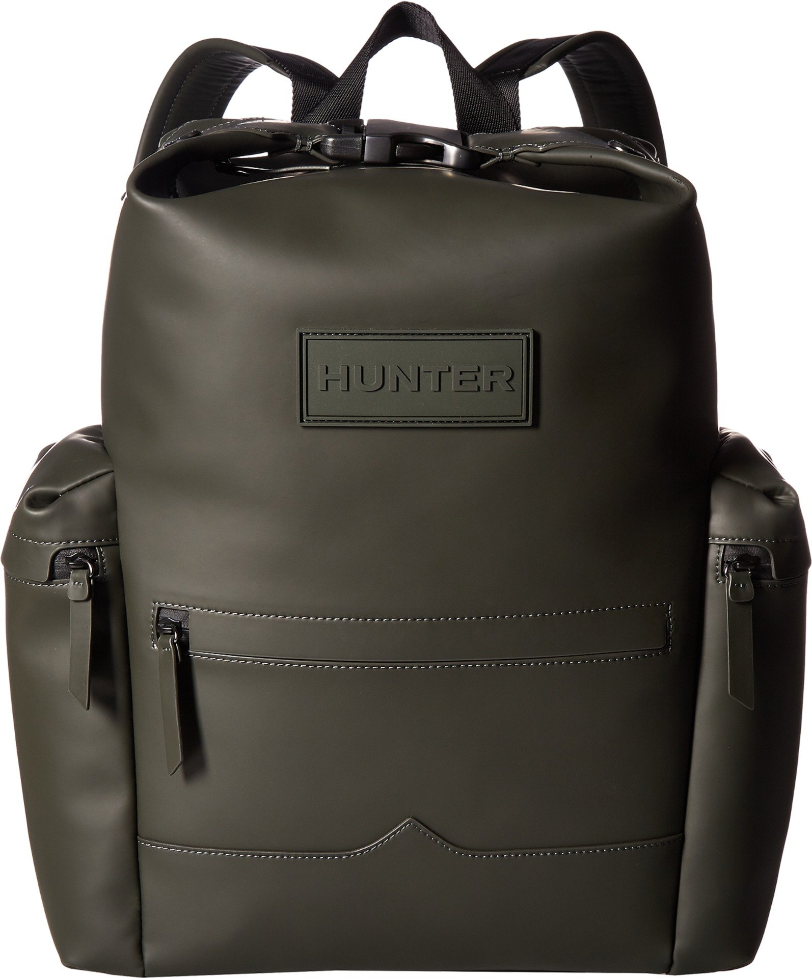 Hunter Boots Men's Original Rubberised Leather Backpack, Dark Olive, One Size