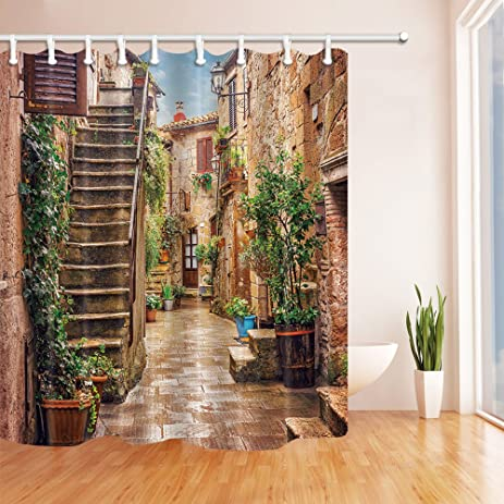 Amazon.com: NYMB Tuscan Decor Collection Landscape of Tuscany Shower ...