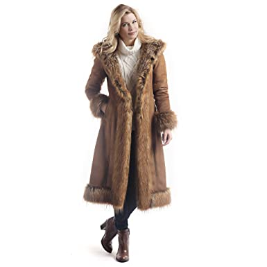 144ad72db1a Donna Salyers' Fabulous-Furs Women's Faux Suede/Fur Full-Length Coat at  Amazon Women's Coats Shop