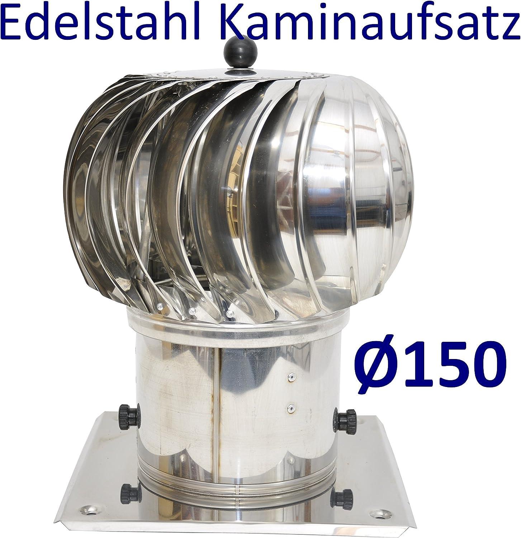 /Ø 100 cm chapeau de chemin/ée toutes dimensions /… Extracteur de fum/ées rotatif /éolien en inox AISI304 base ronde