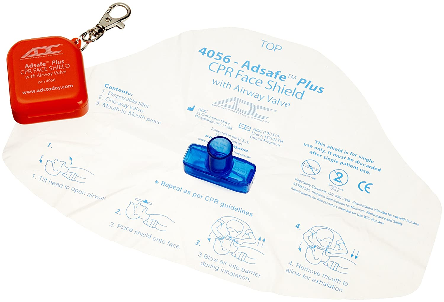 Amazon Adc 4056 Adsafe Plus Single Use Cpr Face Shield With
