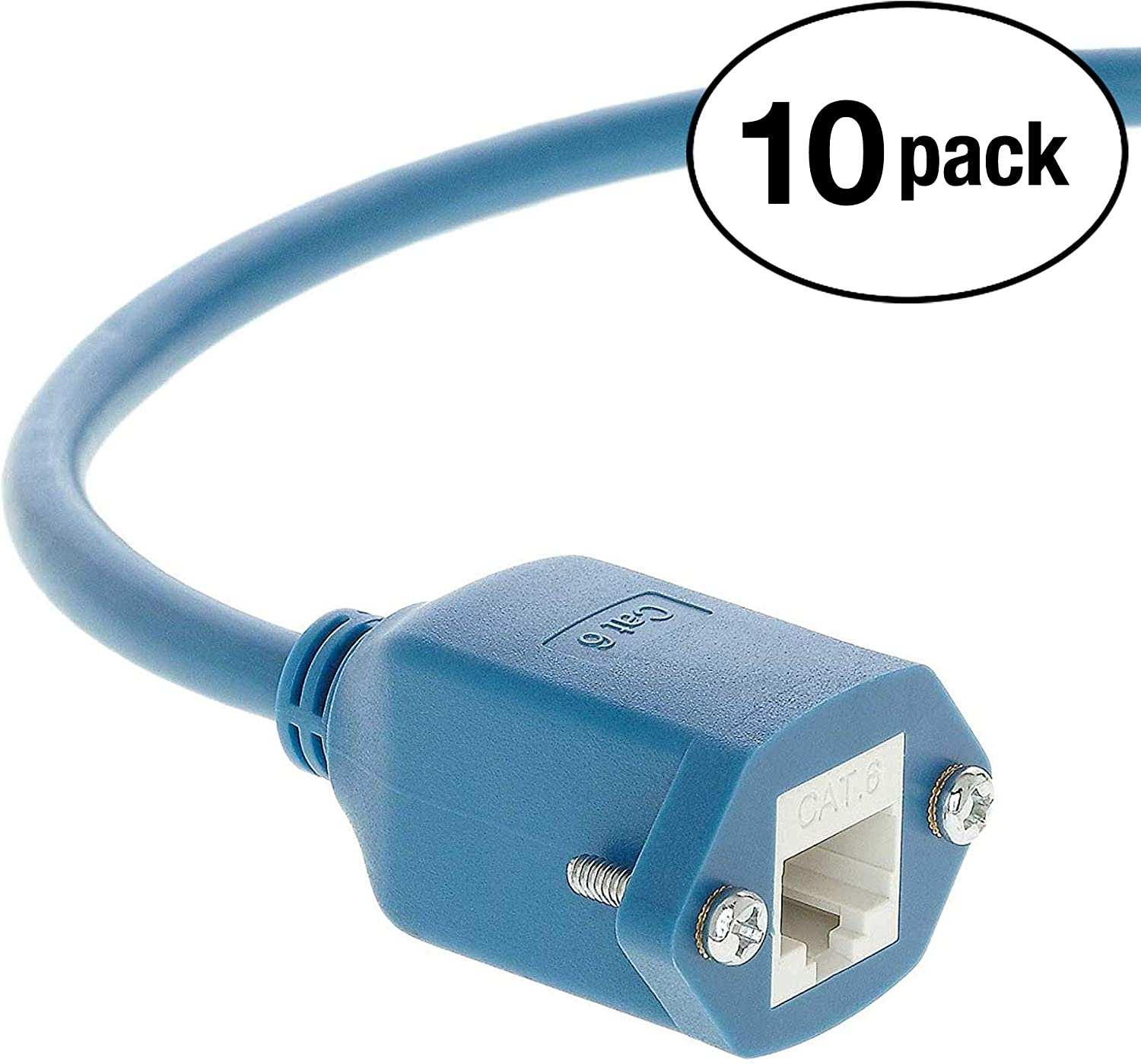 Professional Series Gray w//Green End InstallerParts 550MHZ 10Gigabit//Sec Network//High Speed Internet Cable Ethernet Cable CAT6 Cable Crossover 25 FT 5 Pack