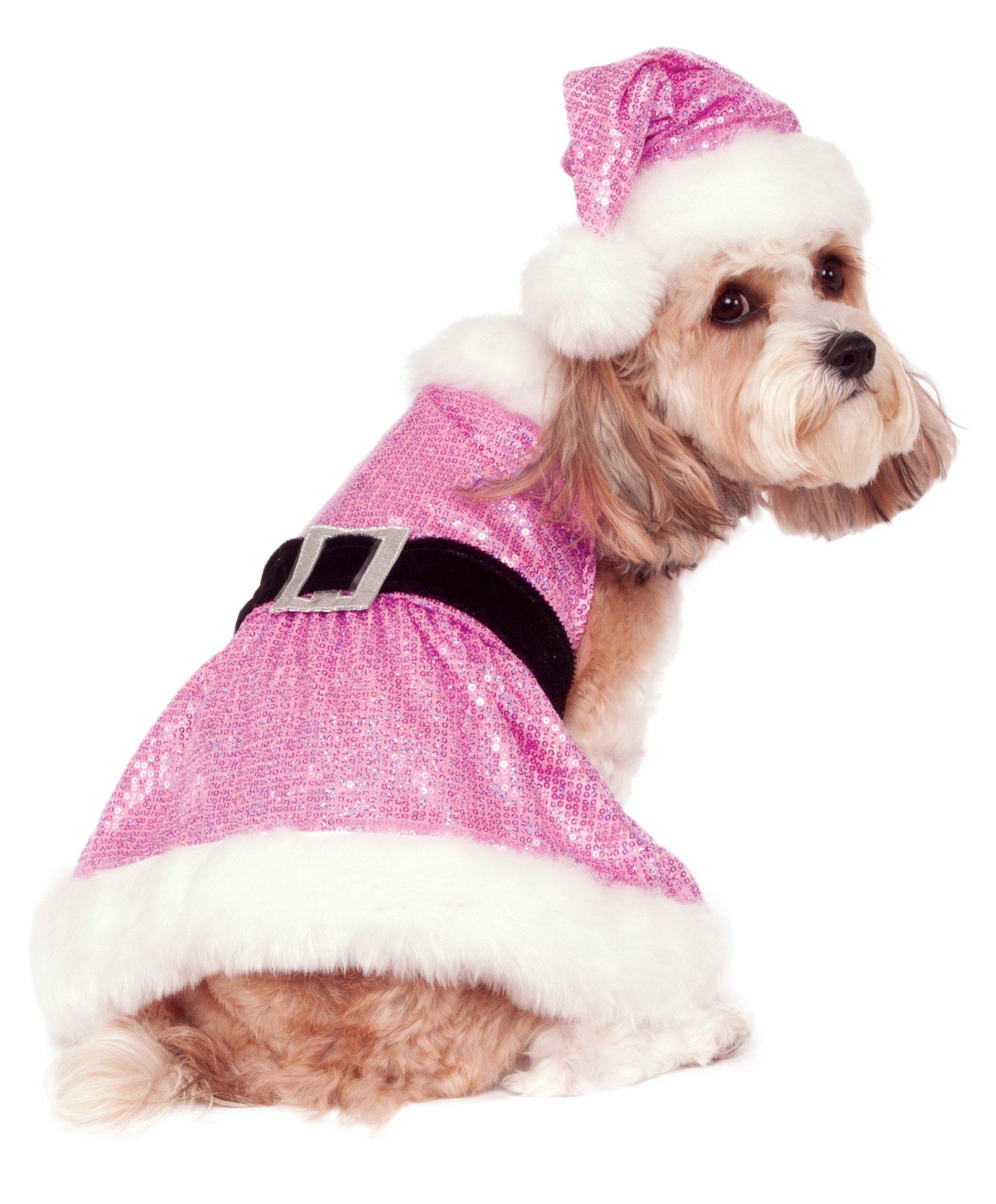 Rubie's Sequin Mrs. Claus Pet Costume, Large