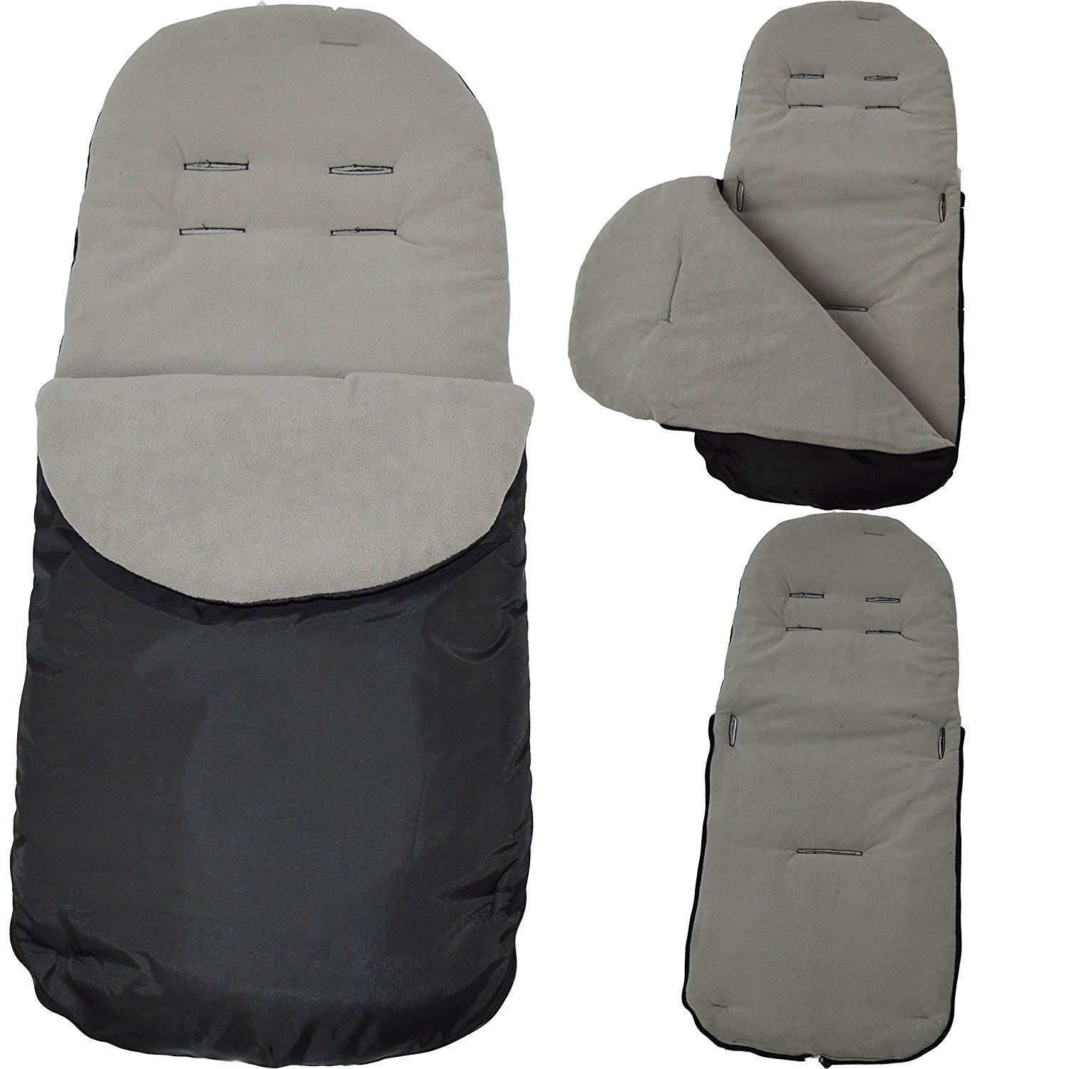 Cosy Toes Compatible with Mamas /& Papas Pushchair Dolphin Grey Footmuff