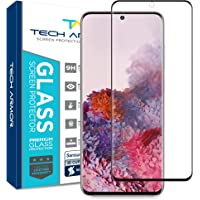 Tech Armor Ballistic Glass 3D Curved Screen Protector Designed for Samsung Galaxy S20, CASE Friendly, HD Clear, Black - [1-Pack]