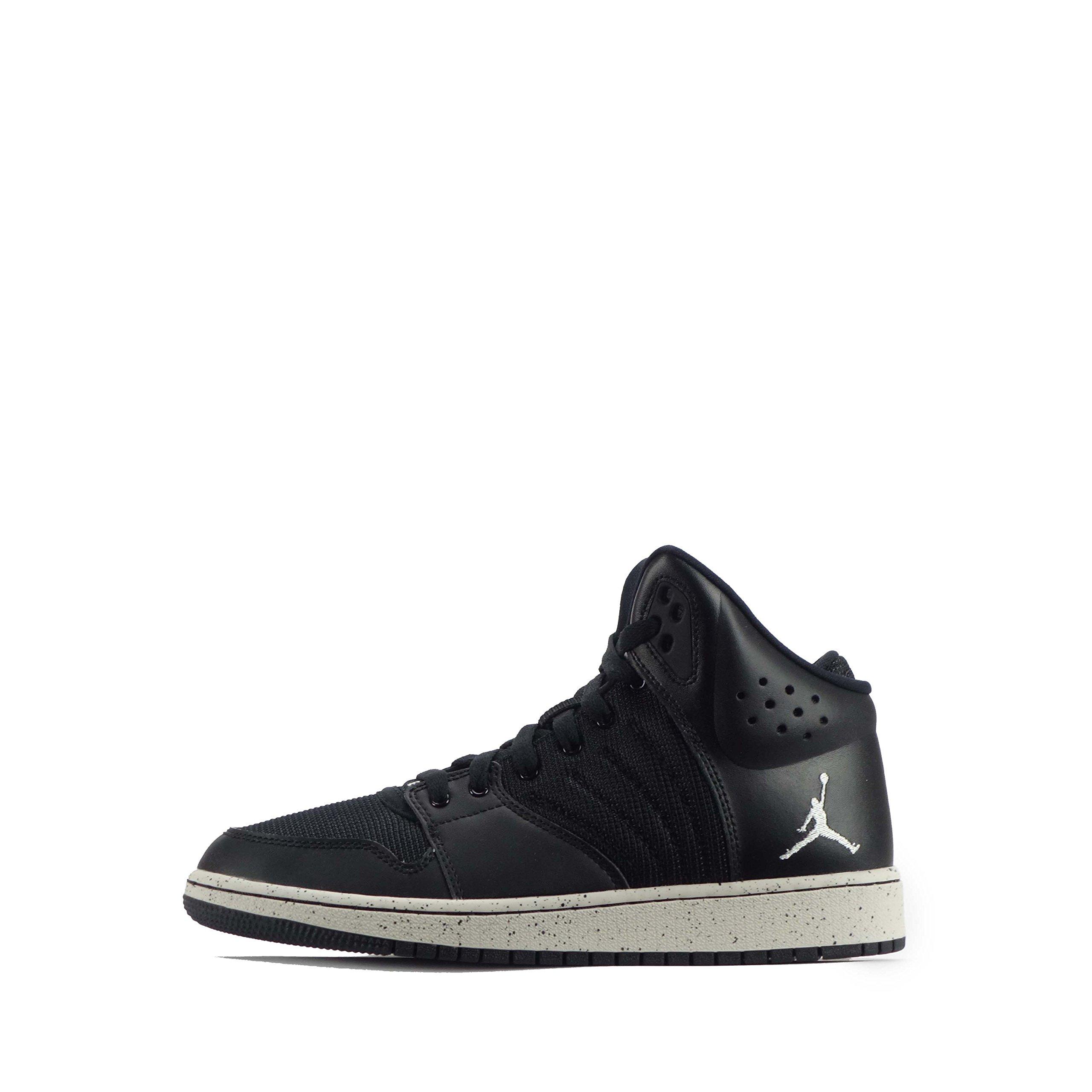 NIKE Jordan 1 Flight 4 Prem BG Hi Top Trainers 828237 Sneakers Shoes (5 M US Big Kid, Dark Shadow/Ink-Black-Spice' 020)