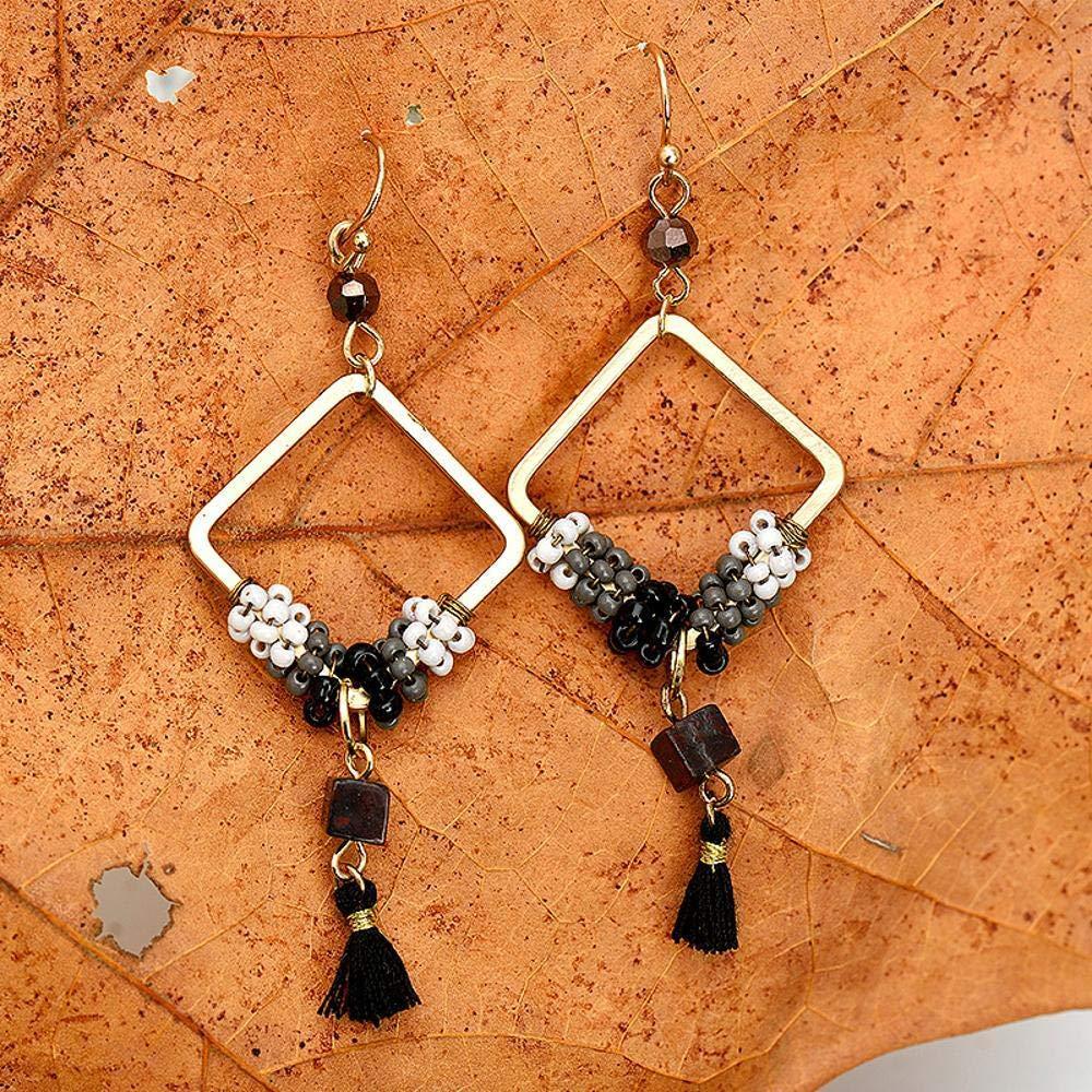 Ludage Earrings, Alloy Earrings 68mm Hand DIY Tassels Pendant Earrings European Fashion Trend Earrings