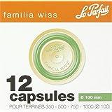 Capsules pour terrine Familia Wiss Le Parfait - Verte - Diamètre 100 mm - Vendu par 12
