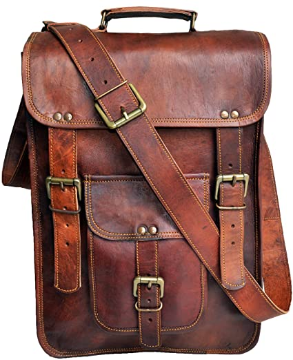 Image Unavailable. Image not available for. Color  jaald 15 quot  Men s Genuine  Leather Messenger Bag ... 8edfe990c81bc