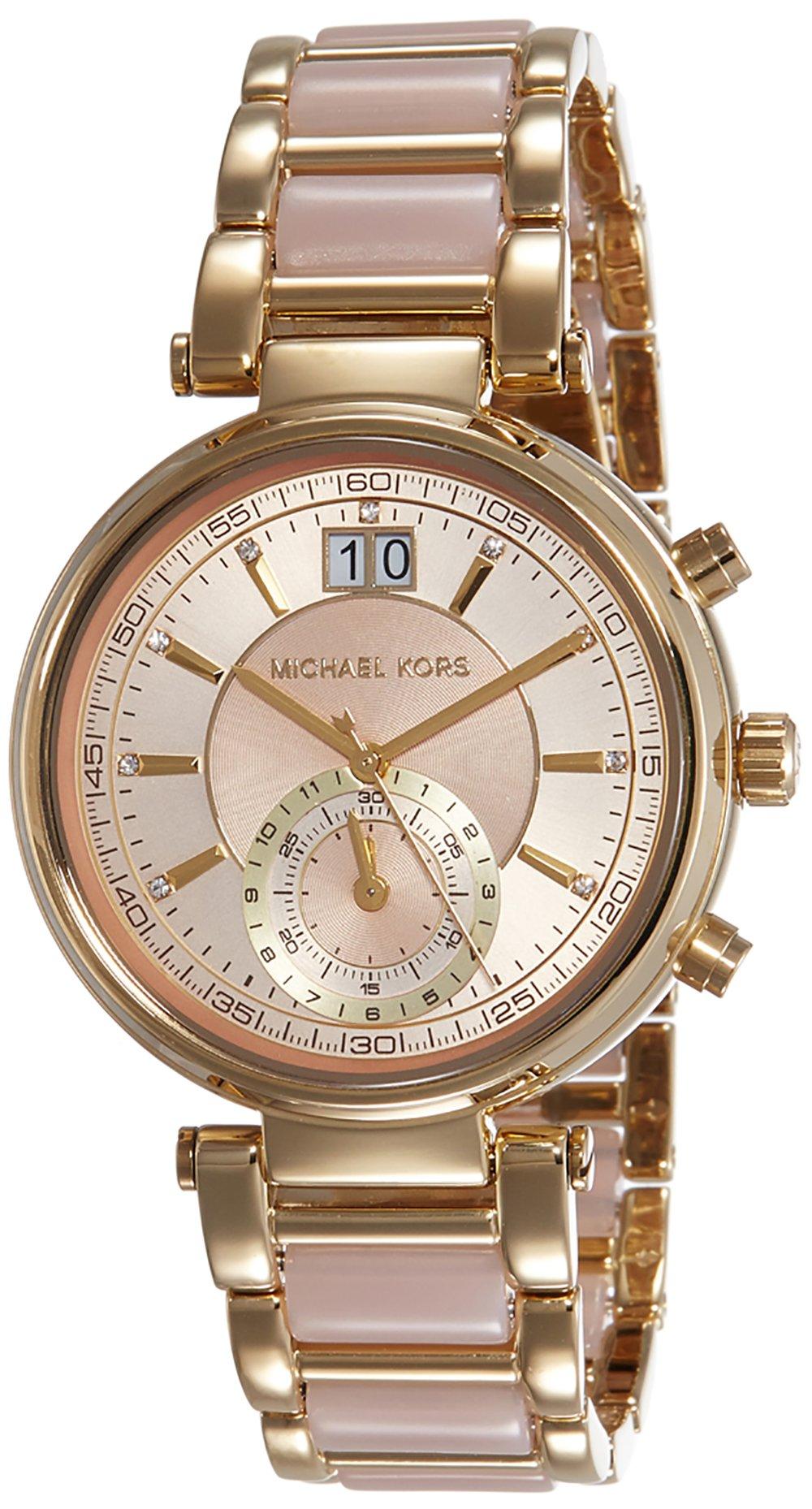 Michael Kors Women's Sawyer Two-Tone Watch MK6360