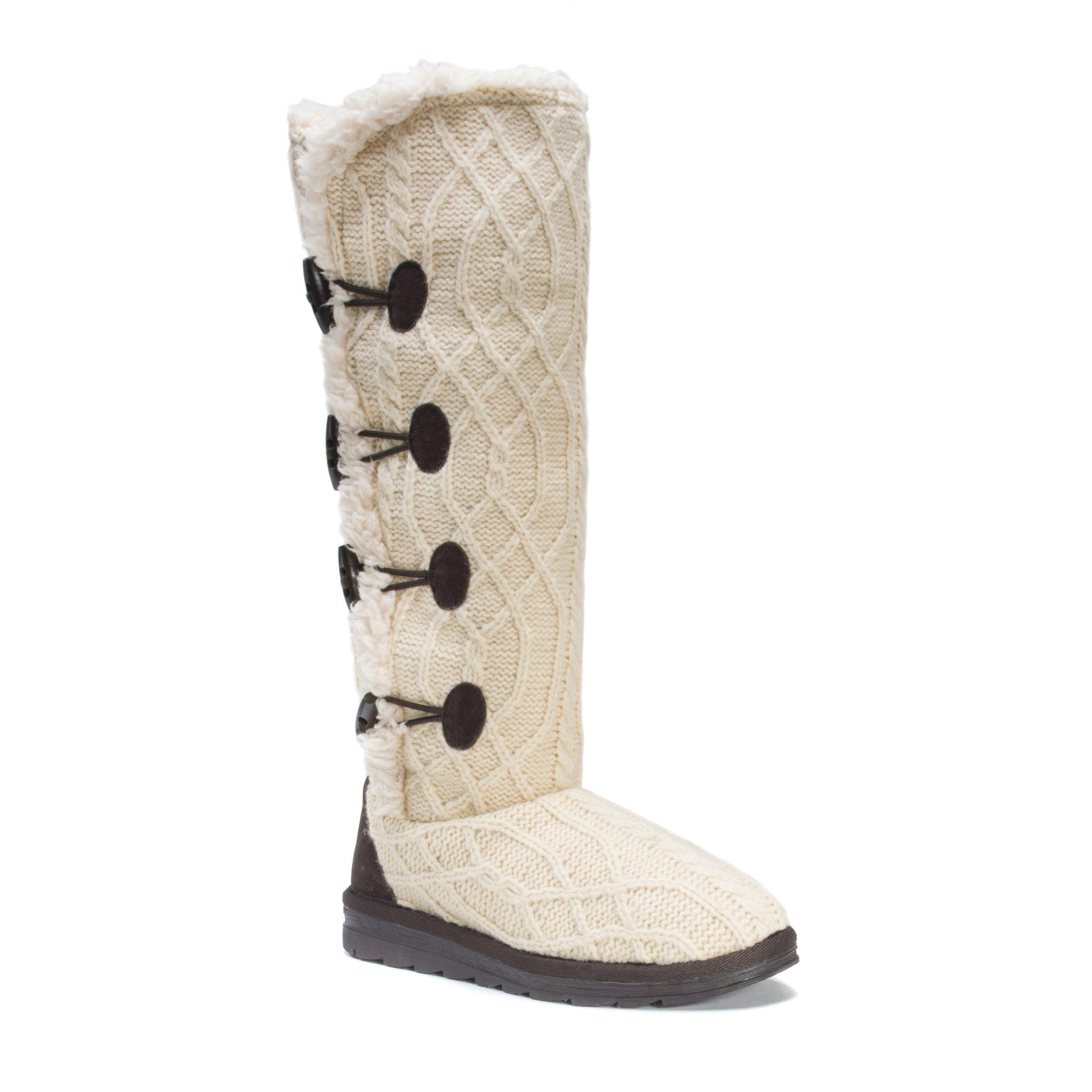 MUK LUKS Women's Felicity White Fashion Boot, Cream, 9 Medium US