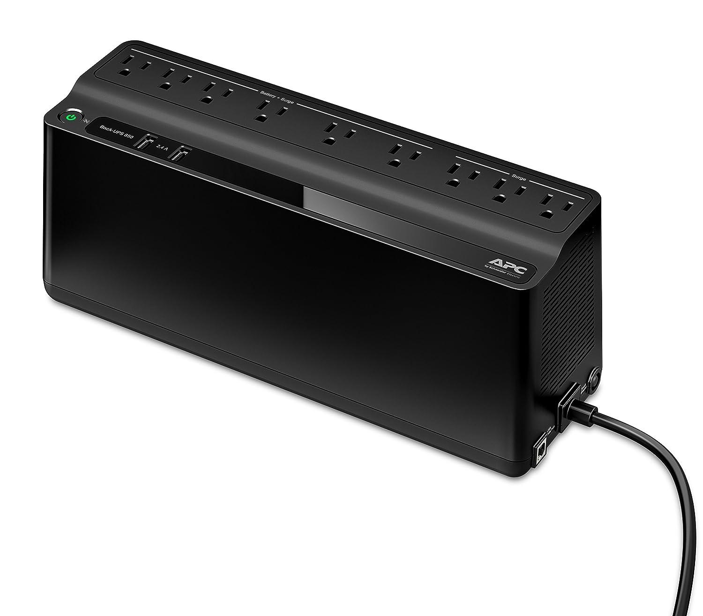 Amazon.com: APC 850VA UPS Battery Backup & Surge Protector with USB  Charging Ports, APC UPS Back-UPS (BE850M2): Electronics