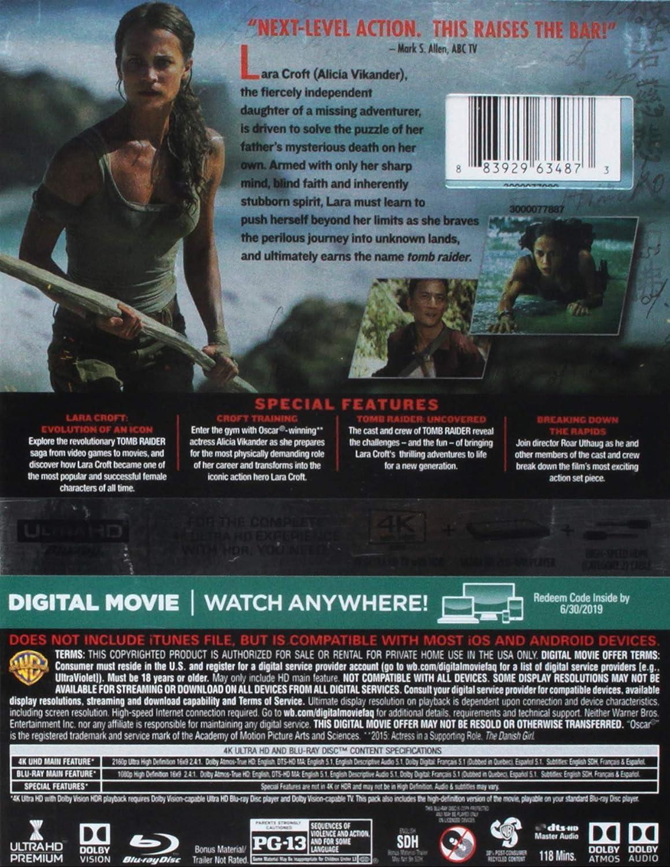 Amazon Com Tomb Raider 4k Uhd Bd Blu Ray Electronics