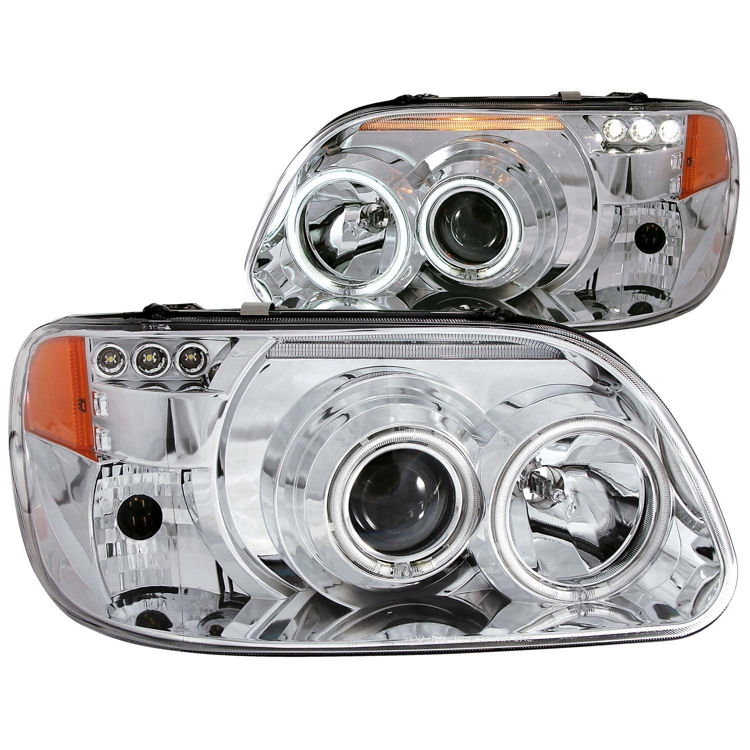 Sold in Pairs Anzo USA 111132 Ford Explorer Projector 1 Pc Black Clear Amber Headlight Assembly
