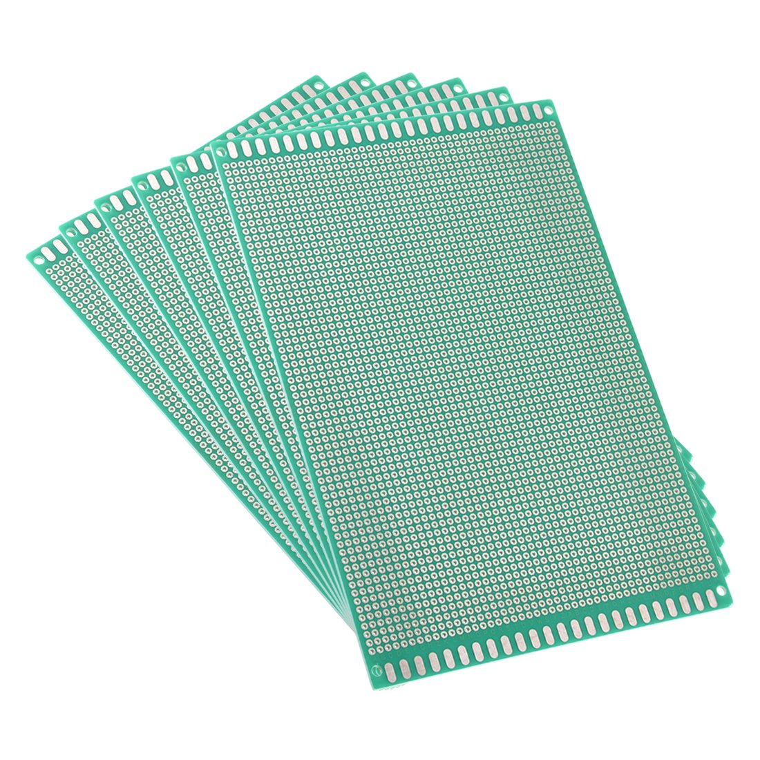 uxcell 12x18cm Single Sided Universal Printed Circuit Board for DIY Soldering Green Thickness 1.6mm 6pcs