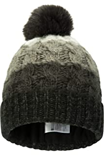 9b42bd1573f Mountain Warehouse Vienna Womens Winter Beanie - Anti-Pill Knitted Fabric  for Extra Warmth…