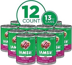 IAMS PROACTIVE HEALTH Wet Dog Food, 12 count 13 oz. Cans