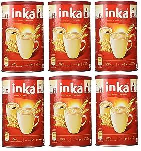 INKA Roasted Grain Coffee Kawa Zbozowa Pack of 6 - 200 Gram Cans