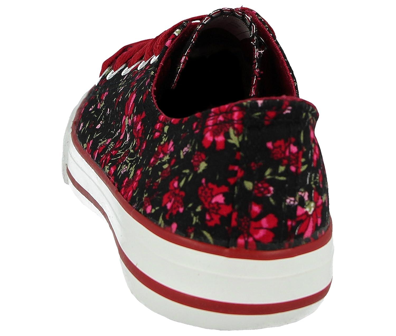 88e41760a5de Ladies Girls Kids Canvas Low Top Lace up Pumps Plimsoll Casual Sneakers  Trainers Shoes Size 10 Infant -UK 9  Amazon.co.uk  Shoes   Bags