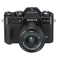 """Fujifilm X-T20 Black Fotocamera Digitale 24MP con Obiettivo XC15-45mm F3.5-5.6 OIS PZ, Sensore CMOS X-Trans III APS-C, Mirino EVF, Schermo LCD Touchscreen 3"""" Orientabile, Filmati 4K, Nero"""