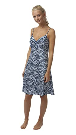 Ladies Floral Print Short Satin Chemise Nightdress. Plum Blue Steel. Sizes  8 10 12 14 16 18 20 (8 df27322b3
