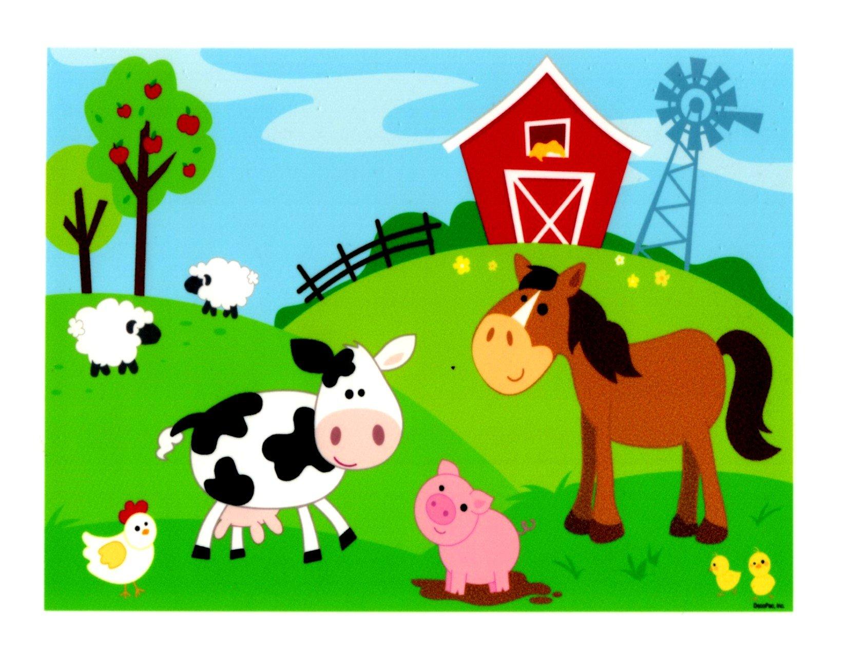 Farm Animals Edible Icing Image (1/4 Sheet)