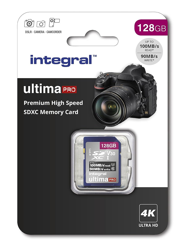 Integral INSDX128G Tarjeta de Memoria SDXC de Alta Velocidad 128 GB