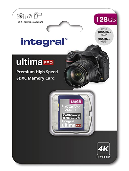 Integral INSDX128G - Tarjeta de Memoria SDXC de Alta Velocidad 128 GB