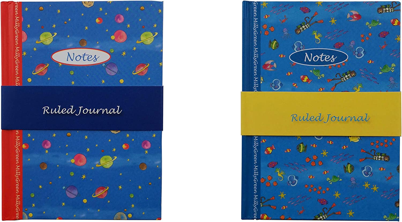 Robert Frederick- Pack 2 Libretas con tapa dura de Dibujo, con páginas de 1 ralla, tamaño A6 148mm x 105mm (Pack de 2 libretas B): Amazon.es: Oficina y papelería