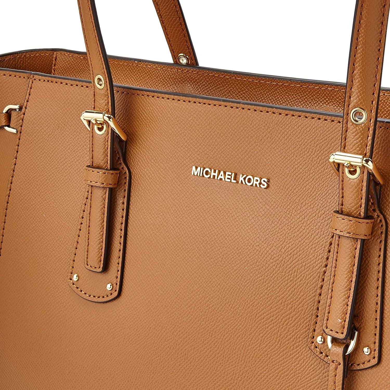 a66e09981 Amazon.com: MICHAEL Michael Kors Voyager Medium Leather Tote (Acorn): Michael  Kors: Shoes