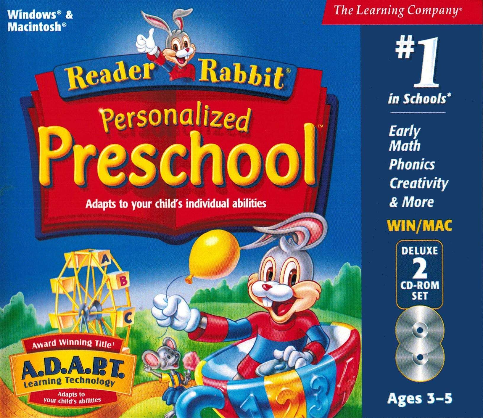 Reader Rabbit Personalized Preschool Deluxe (2 CD-ROM Set) (Compatible with Windows XP / Vista ONLY) by The Learning Company