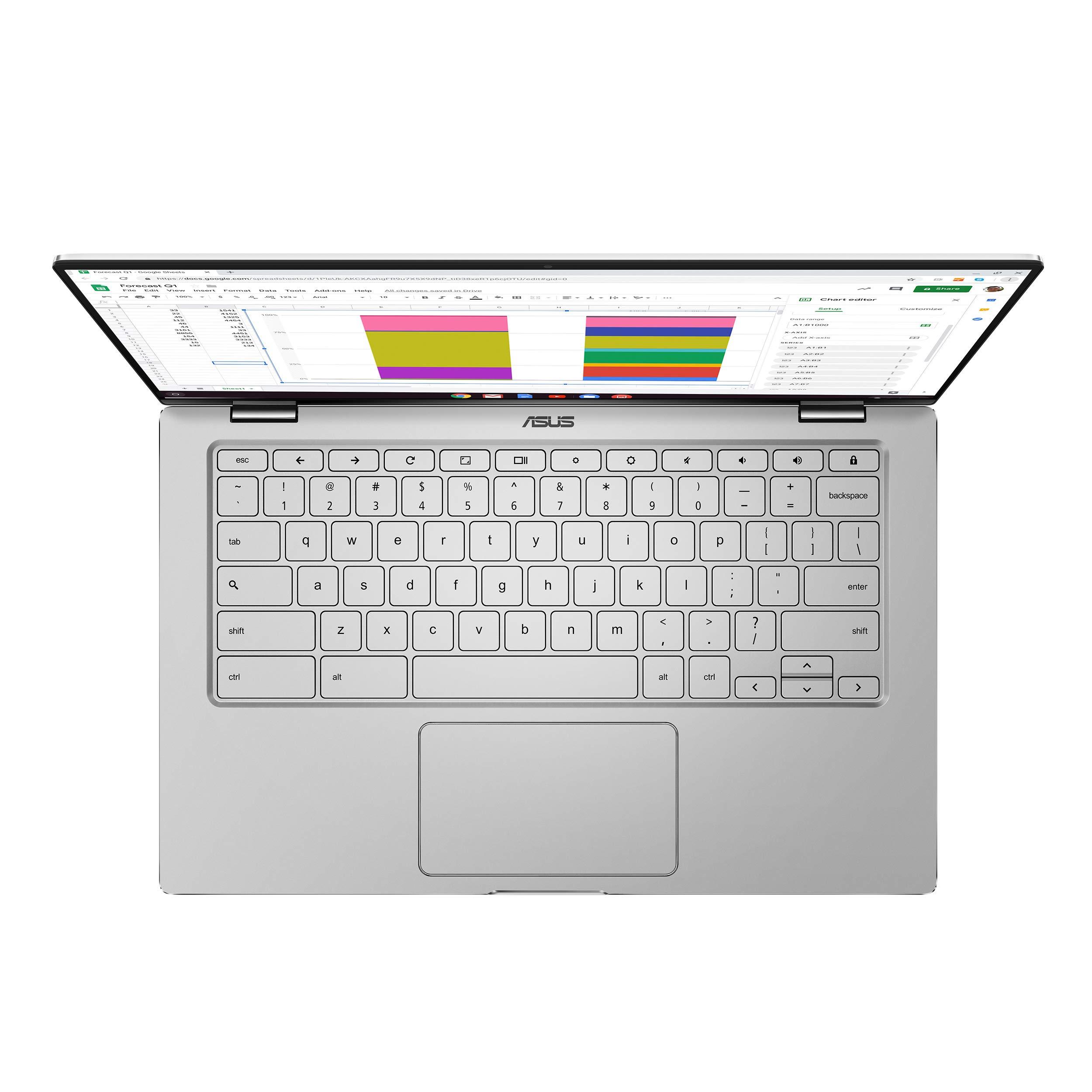 ASUS Chromebook Flip C434TA-DSM4T 2-in-1 Laptop 14'' Touchscreen Full HD 4-Way NanoEdge, Intel Core M3-8100Y Processor, 4GB RAM, 64GB eMMC Storage, Chrome OS by ASUS (Image #6)