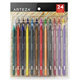 Arteza Woodless Colored Pencils, 24 Colors, Soft Core, Presharpened Art Coloring Pencils (Set of 24)