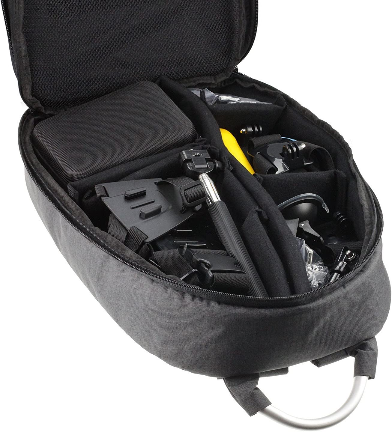 Navitech Hard Shell Action Camera Backpack//Rucksack//Case Compatible with The GoXtreme Stage Action Camera