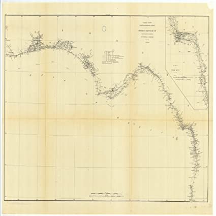 Amazon.com: Vintography 8 x 12 inch 1881 US Old Nautical map Drawing ...
